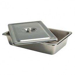 instrument tray, stainless tray with cover, small instrument tray, 8 inch tray